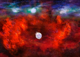 Artist's illustration of SN1987A