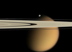 Saturn's Moons: Titan and Epimetheus