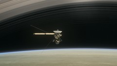 Cassini Between Saturn and its Rings