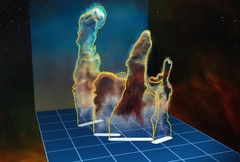 3D Image of the Eagle Nebula