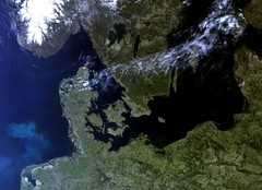Satellite Image of Northern Europe