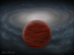 Artists impression of a brown dwarf.